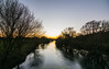 Dusk along the river (R M Photography) Tags: nikon nikonfxshowcase inspiredbylove d3300 sky sunset eyebridge dusk river stour riverstour tree trees tokina tokina1116 tokina1116mm