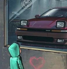 TOYOTA LOVE (shagracer) Tags: boyhood dreams 1st first lust supra turbo mk3 mkiii window shopping gazing entranced smitten car child childhood love want day dreaming sight