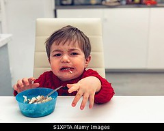 Photo accepted by Stockimo (vanya.bovajo) Tags: stockimo iphonegraphy iphone baby eating unhappy toddler children child eat by himself home childhood food alone crying cry caucasian