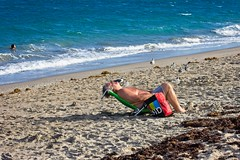 Beach People (LarryJay99 ) Tags: 2018 lakeworth florida lakeworthbeach atlanticocean people asleep barefuss barefoot barefeet belly face profile relaxed urban men male man guy guys dude dudes legs