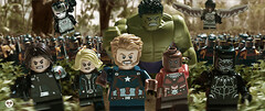 infinity war (Young's Lego) Tags: infinity war captain america black widow winter soldier hilk mach marvel falcon avengers thanos photo photography lego legography