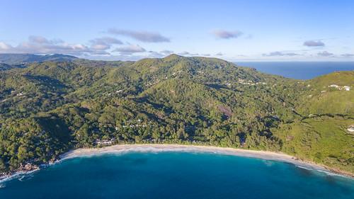Luftbild Anse Intendance Strand Mahe Seychellen