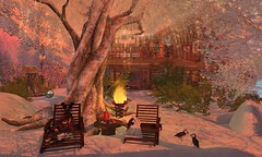 As dusk approaches (cejalaval) Tags: secondlife sl shadows snow scenic windlight winter willowdale landscape redhead puffins seasons