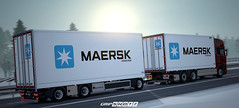 Scania NTM - Maersk Project WiP [ETS2] (gripshotz) Tags: scania ntm maersk euro truck simulator ets 2 tandem trailer