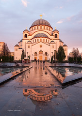 The Temple of Saint Sava (pietkagab (on the road)) Tags: st saint sava church temple orthodox serbia serbian belgrade beograd balkan balkans europe european evening water rain reflection dome structure architecture goldenhour pietkagab photography pentax piotrgaborek pentaxk5ii travel trip tourism sightseeing building religion christian