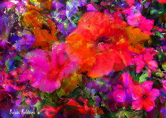 Good Vibrations (brillianthues) Tags: flowers floral nature garden abstract colorful collage photography photmanuplation photoshop
