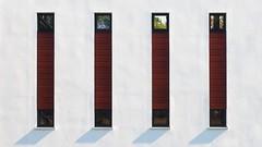 Minimal - Windows (Visual Stripes) Tags: minimal window white shadow architecture wall building olympus 1442mm mft m43 composition