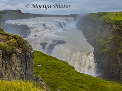 Above the Gullfoss - Icelandic Waterfall (moelynphotos) Tags: gullfoss waterfall goldencircle iconic touristdestination tourist iceland river whiteriver glacier vibrantcolor green thundering loud nature natural beautyinnature fromabove largegroupofpeople footpath mist cliff greencolor moelynphotos