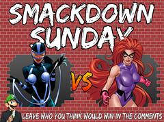 Smackdown Sunday- Lashina VS Medusa (Luigi Fan) Tags: medusa vs lashina marvel dc comics