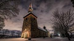 Lovö Kyrka, Drottningholm (tonyguest) Tags: lovö kyrka drottningholm sverige sweden tonyguest stockholm tony guest winter snow stone building nikon 1424mm d810