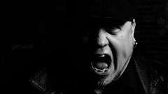 The Vexation (Dennis Valente) Tags: 2018 alley usa brickwall washington leather pnw selfportrait portrait ellensburg blackandwhite anger 5dsr