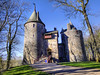 Early morning sunshine on Castell Coch, Nr Cardiff (All I want for Christmas is a Leica) Tags: castle castlewall castellcoch cardiff tongwynlais heritage monument bluesky architecture trees towers drawbridge ramp