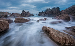 Playa del Aguilar (Brenda Lourdes Ruiz Rojas) Tags: rock landscape art joy nature happiness beauty best sea adventure spain travel exposure beach water brendaruiz asturias prague czeckrepublic