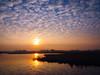 Eveningwalk (Jenne Barneveld) Tags: sunset sun eveningclouds clouds eveningwalk walking walk reflection reflections waterreflections water orange red yellow olympusem10 olympus