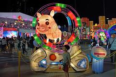 Zodiac - Pig (chooyutshing) Tags: zodiacpig lantern lightedup display riverhongbao2018 thefloatmarinabay chinesenewyear lunarnewyear yearofthedog festival attractions marinabay singapore