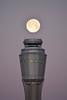 Airport Full Moon (Jslark91) Tags: lv clarkcounty nv mccarran airport mccarranairport morning sky vegas moon lunar fullmoon faa tower