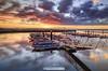 Cais do Bico, Ria de Aveiro - Portugal (paulosilva3) Tags: sunrise colors boats moliceiros cais do bico water longexpo progrey filters usa