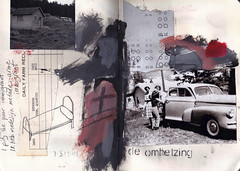 i pity the poor immigrant (Bernie Vander Wal) Tags: notebook collage