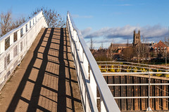It's about Perspective (Macro light) Tags: worcester riversevern diglis worcestercathedral st andrews spire perspective bridges