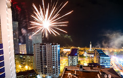 Old New Year in Batumi (free3yourmind) Tags: old newyear batumi georgia fireworks view above