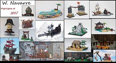 Highlights of 2017 (belated collage) (W. Navarre) Tags: lego year poster collage