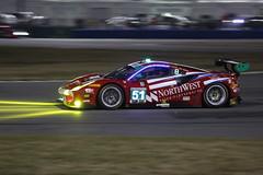 Spirit of Race Ferrari 488 GTD (bwass244) Tags: autosport daytona fast florida imsa motorsports racing rolex24 racecar sportscar speed night lauda ferrari red 488 gtd lights