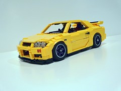 Lego Ideas Project (Senator Chinchilla) Tags: nissan lego skyline r34 gtr 90s godzilla jdm japan ideas sports car rb26dett datsun yellow computer bricks