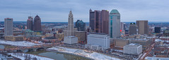 These City Lights (player_pleasure) Tags: columbus skyline skyscraper winter lights inspire1pro drone architecture center downtown dji cloudy morning ariel