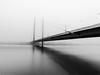Misty Mornings (Abdalis_3k60) Tags: mist fog longexposure dusseldorf germany bridge bw mobilephotography huawei