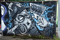 Mural / Graffiti / Street Art, Birmingham. (Manoo Mistry) Tags: nikon nikond5500 tamron tamron18270zoom birmingham birminghampostandmail westmidlands graffiti streetart streetphotography mural drawings painting wallpainting custardfactory urbanart artwork urban