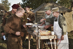 D-Day Conneaut Reenactment (Lerro Photography) Tags: worldwarii wwii reenactment ddayconneaut ohio dday reenactor vintageuniforms breakfast morning chow