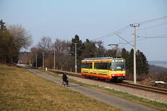 Eilzug gucken (trainspotter64) Tags: tramway tram tranvia tramwaje tramvaj streetcar lightrail düwag karlsruhe gt680c stadtbahn avg albtalbahn