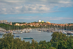 Pula Yacht Harbour and City (fotofrysk) Tags: yachtharbour boats sailboats yachts water trees city town pulacity clouds sky morninglight easterneuropetrip croatia pula istria dalmatiancoast sigma1750mmf28exdcoxhsm nikond7100 201710047913