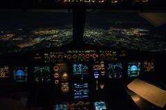 A320 flightdek at night over Cairo (rmnsvn) Tags: aviation night cockpit airbus a320 sunrise
