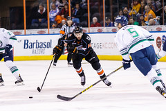 "Kansas City Mavericks vs. Florida Everblades, February 18, 2018, Silverstein Eye Centers Arena, Independence, Missouri.  Photo: © John Howe / Howe Creative Photography, all rights reserved 2018 • <a style=""font-size:0.8em;"" href=""http://www.flickr.com/photos/134016632@N02/26516786018/"" target=""_blank"">View on Flickr</a>"