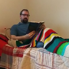 Day 51 - Reading (Cary Pohlhammer) Tags: 3652018 reading book blanket lazy calm calmness bed bedroom pillow fiction literature all grown up jami attenberg novels