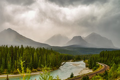 Drama at Morants (NUNZG) Tags: banff canadian rockies alberta landscape nature mountains clouds