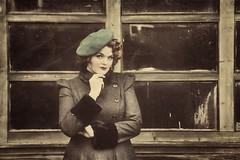 Vintage look (Neal J.Wilson) Tags: 1950 1940 40s fashion oldfashioned portraits portrait vintage danish hat model modelling coat berat