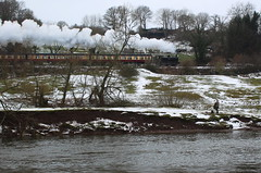 Severn Valley Railway in the snow. (Keith Wilko) Tags: severnvalleyrailway svr snow svrsnow steamtrains railways arley upperarley worcestershire winter 7714 7714loco loco7714 severn riversevern severnriver theriversevern sevenvalley fisherman anglers fishing riverfishing