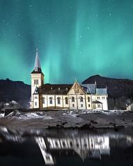 The sky above (Jay Daley) Tags: a7r2 longexposure sonyalpha sony sky astro photography nightphotography night church svolvaer norway northernlights auroraborealis aurora