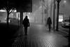 Two silhouettes (jaume zamorano) Tags: blackandwhite blancoynegro blackwhite boira d5500 fog foggy nikon nikonistas niebla noiretblanc blackandwhitephotography blackandwhitephoto street streetphotography streetphoto streetphotoblackandwhite monochrome lleida