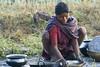 Kawardha - Chhattisgarh - India (wietsej) Tags: kawardha chhattisgarh india sony sonydslra100 a100 zeiss sal135f18z 13518 sonnar13518za woman dishes
