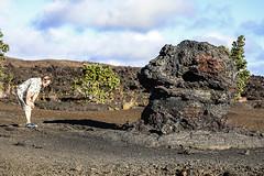 Checking the Roots (wyojones) Tags: trails maunaulu hawai'ivolcanoesnationalpark treemolds ʻōhiʻatrees lavaflows basalt cooling solidification forest trees encased moldsoflava lavatrees hoodoos david family geology dentist wyojones
