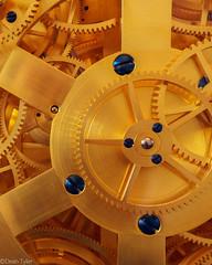 Cophenhagen Clock (Dean OM) Tags: copenhagen denmark clock gears gold blue detail