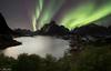 GREEN NIGHTS (AlbertMu7) Tags: night lofoten reine aurora borealis northern light