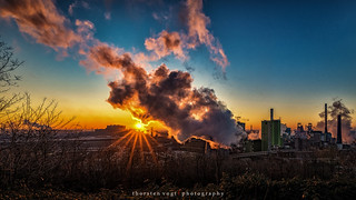 Sonnenaufgang Duisburg