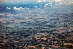Rice Fields (Matt Molloy) Tags: mattmolloy photography clouds rice fields river water squares town village puzzle trees birdseyeview onaplane flying above southeastasia landscape countryside lovelife thailand