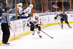 "Kansas City Mavericks vs. Indy Fuel, February 17, 2018, Silverstein Eye Centers Arena, Independence, Missouri.  Photo: © John Howe / Howe Creative Photography, all rights reserved 2018 • <a style=""font-size:0.8em;"" href=""http://www.flickr.com/photos/134016632@N02/38577199920/"" target=""_blank"">View on Flickr</a>"