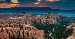 Good Morning Bryce Canyon - Explore (Ron Drew) Tags: nikon d800 brycecanyonnationalpark nationalpark park sunrise summer utah trees hoodoo clouds dawn redrock rim outdoor cliff usa