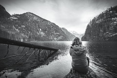 Berchtesgadener Land (einhundertstel.eu) Tags: berchtesgaden lake königssee outdoor landscape nature mountain person blackandwhite bnw